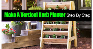 How To Make A Vertical Herb Planter Step By Step