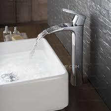modern flat design hollowed waterfall cool bathroom sink faucet