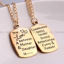 Mother Daughter Love Quotes Charm Pendant Necklace Inspiration Quotes Words Mother Daughter Love 29