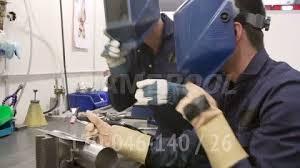 Pipeline Welding Apprentice Metal Working Apprentice Working Hd Stock Video 170 046 140