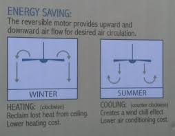change ceiling fan direction in winter summer and save money