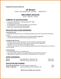 Server Resume Skills Sop Example