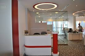 colorful office space interior design. Colorful Office Interior Glass Design With Large Partitions In Astonishing Picture Space