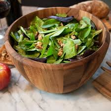 wood tall salad bowl main picture image preview