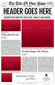 Newspaper Front Page Template Indesign 35 Best Newspaper Templates In Indesign And Psd Formats