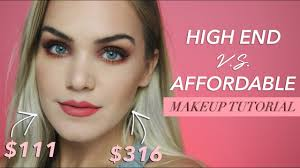 high end vs affordable makeup tutorial rusty blush tones mariah leonard makeup beauty videos lifestyle beauty
