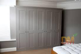 Contemporary Grey Free Standing Wardrobe Wooden Design  Built In  WardrobeWardrobe DoorsBedroom ...