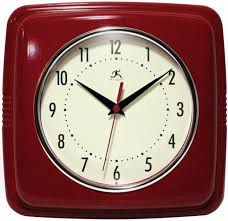 double bubble glass lighted wall clock