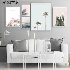Wall <b>Art</b> Print Flower Bird <b>Sea</b> Landscape Canvas <b>Painting Nordic</b> ...