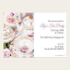 Tea Party Invitations Vintage China