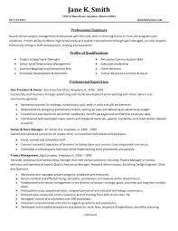 Project Manager Resume Template Saneme
