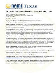 Cover Letter For Peer Support Specialist Employment Opportunities Nami Texas Nami Texas