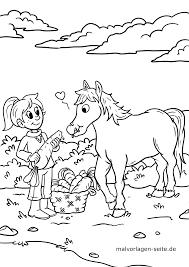Kleurplaat Paard