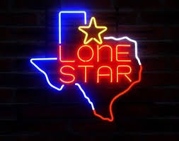 new texas lone star logo bar neon light sign