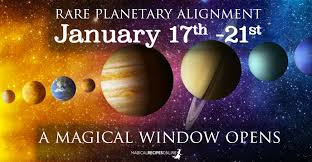 Planet Alignment Chart Rare Alignment January 17 21 A Magical Window Opens