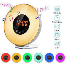 Philips Hf3500 60 Wake Up Light Manual Touch Control Alarm Clock Sunrise Simulation Wake Up Light With Optional Rgb Night Light Fm Radio Snooze Function
