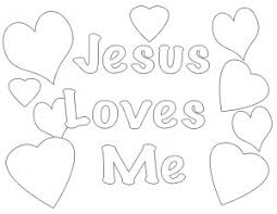 Coloring Pages Of Jesus Loves Me Color Bros