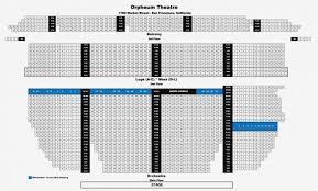 Orpheum Theater Phoenix Seating Chart Curran Theatre Seating Pantages La Seating Chart Seating