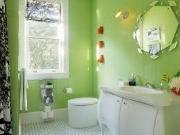 Bathroom Sparkles With Bright Apple Green Walls