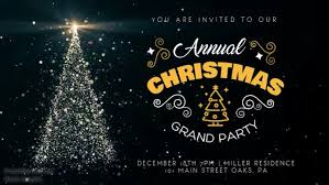 Design Party Invitations Free Christmas Party Invitations Postermywall