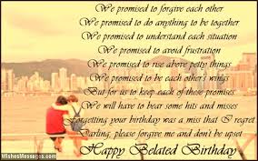 Belated Birthday Poems for Husband: Late Birthday Wishes for Him ...