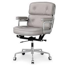 modern office chair leather. Lyndon Office Chair Grey Aniline Leather Modern I