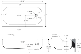 standard bathtub length standard tub size standard bathtub size philippines