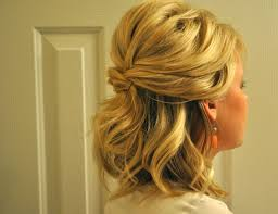 Wedding Half Up Hairstyles Hairstyles For Curly Hair Half Up Half Down Prom Hairstyles For