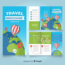 Travel Brochure Cover Design Travel Trifold Brochure Template Vector Free Download