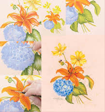 how to paint flowers in acrylic