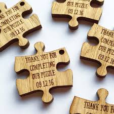 Unusual Wedding Favours 47 Quirky Ideas Puzzle Pieces Favours