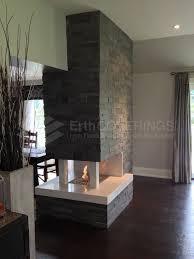 3 side fireplace