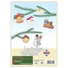 Weihnachtsmotive Baumschmuck 6 Anhänger Laubsägevorlage Kinder Holz Aussägen Matches21