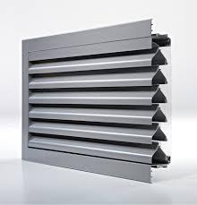 Aluminium Lüftungsgitter Rechteckig Für Fassaden Ducogrille