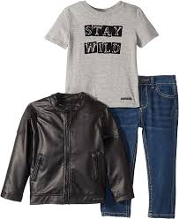 Hudson Size Chart Amazon Com Hudson Kids Mens Poly Faux Leather Biker Jacket