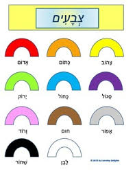 Hebrew Colors Nikkud Included
