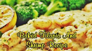 baked tilapia and shrimp recipe