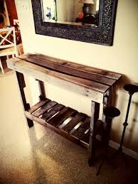 furniture made from pallet wood. entry table made from pallet wood things by me pinterest tables and pallets furniture r