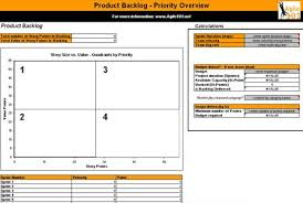 Scrum Meeting Template Scrum Product Backlog Template With Priority Overview