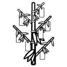 かわいい七夕の笹と短冊の無料イラスト商用フリー オイデ43