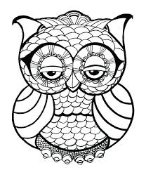 Owl Coloring Pages For Toddlers Sheets Adults Free Detailed Alluring