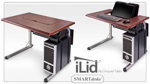 ilid single flip computer table thermofoil desktop p15