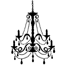 trendy white chandelier clip art black clipart intended for elegant home throughout clip on chandeliers
