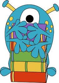 hug self clipart. four arm monster hugging books clip art image - funny . hug self clipart