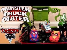 Cars Toon Monster Truck Mater Wrestling Ring Playset Disney Mater's ...