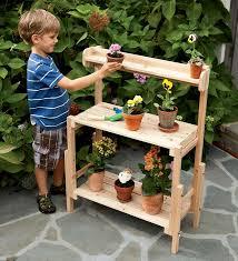 potting bench gardening with children