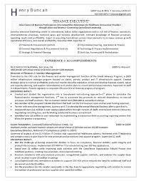 Director Of Finance Resume Example Regarding Sample Resume Finance