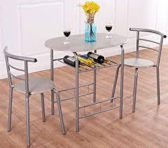 Vintage table and chairs Round Image Unavailable Amazoncom Amazoncom Ka Company Bistro Parlor Set Iron Twisted Ice Cream