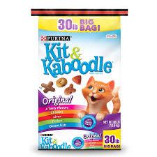 purina kit kaboodle dry cat food original 30 lb bag