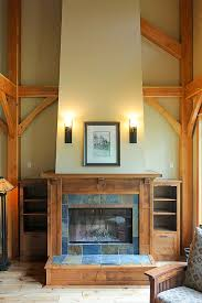 arts and crafts style fireplace